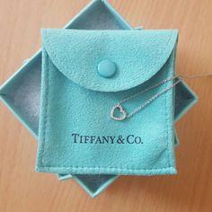 Tiffany & Co Metro  Diamond Heart Necklace Tiffany & Co 18k White Gold Metro Diamond Heart Necklace Gently Worn  Perfect Condition Tiffany & Co. Jewelry Necklaces