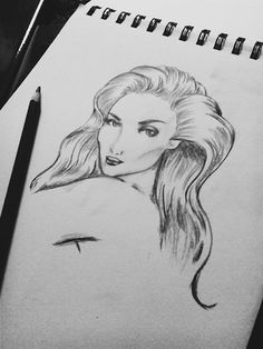 """""""It is easy to be beautiful; it is difficult to appear so."""" #sketch"""