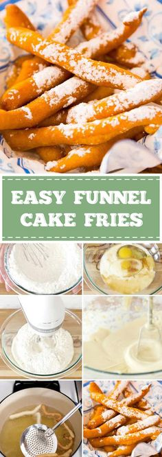 Easy Funnel Cake Fries Ready in Just 20 Minutes – goodrecipes.me Easy Funnel Cake Fries Ready in Just 20 Minutes – goodrecipes. Funnel Cake Recipe Easy, Homemade Funnel Cake, Homemade Cake Recipes, Funnel Cake Batter, Funnel Cake Fries, State Fair Food, Fries Recipe, Recipe Recipe, Cake Bites