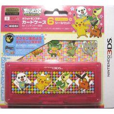 Pokemon Center 2012 Nintendo 3DS/DSiLL/DSi/DS Lite Snivy Pikachu Oshawott Tepig Game Cartridge Storage Case
