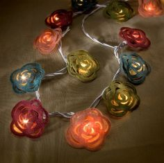 Peony String Light Covers by DimmalimmHome on Etsy, $32.00