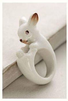 LPD Inspiration: Rabbit Ring For this weeks LPDstudios inspiration, a little rabbit ring caught my eye the last time I was at Anthropologie.  Even though it's new, I love the 1950's feel of the painted porcelain. It inspires me to bring a little vintage flair to my own pieces, and you never know, I may start to dabble in clay figurines!
