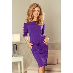 Sporty dress with sleeves - violet.Sporty dress - violetThe dimensions are measured on a person (+/- 2 cm)The woman in the photo is tall. Modern Outfits, Cool Outfits, Purple Outfits, Pants For Women, Clothes For Women, Maternity Tops, Colorful Fashion, Fashion Addict, Women's Fashion Dresses