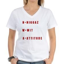 N.W.A NIGGAZ WIT ATTITUDE Women's V-Neck T-Shirt