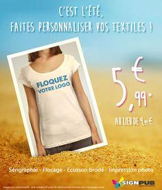 Promotion sur vos tshirts personnalisés Promotion, Textiles, Fabrics, Textile Art