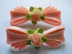 novelty vintage hair barrettes   available at www.accessoriesofold.com