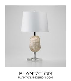 Faux Tortoise Shell Lamp from Plantation Design