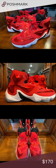 1c6c8048c35 Nike LeBron 13 XIII Red 🔥 🔥 This Nike LeBron 13 is dressed in a