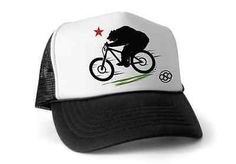 "California Bear Mountain Biking TASCO- ""Braaap"" Trucker Hat,  Enduro MTB Cycling"