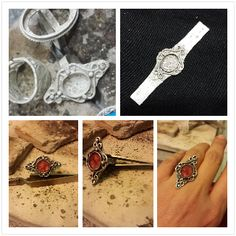 gumus - telkari - yuzuk - pebeo prisma boya recine -  silver - filigree - ring -  #handmade #oyaca #oyalanmaca