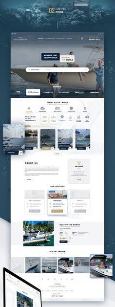 Marine Connection Website on Behance