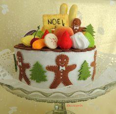 Torta feltro, cibo feltro, sentivo Home Shabby Decor decorazione ornamento, Set eco amichevole per i bambini fingono giocare alimentare per cucina giocattolo, Shabby Decor