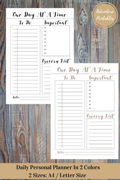 Daily Personal Or Business Printable Planner PDF Form, Productivity Planner, Daily Life Plan- Sizes A4 ans Letter Size  Make you days easier and run your business smoothly with this amazing daily and daily planner!  WHATS INCLUDED:  ► Daily PDF Printable Planner ►Designs are in 2 colors: Black and Copper ► 2 Sizes: A4 and Letter Size   Visit The Shop: https://www.etsy.com/shop/AdventurePrintables -----------------------------------------------------------------------------...