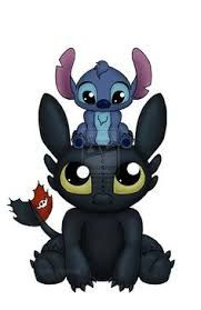 Image result for stitch and toothless