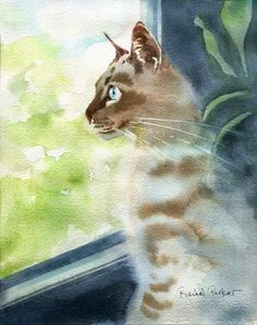 pinturas de gatos de Raquel Parker - Pesquisa Google