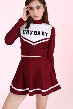 Image of Made To Order- Team Crybaby Cheerleading Set.