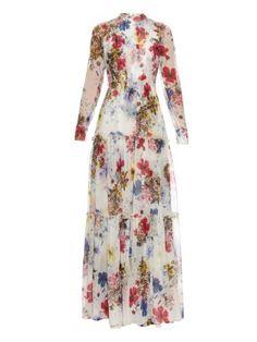 Long-sleeved Carmel floral-print silk-chiffon gown | Erdem | MATCHESFASHION.COM US