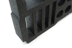 Laserskuret inrede till väska i Plastazote skum | Laser cut case insert in Plastazote foam Laser Cutting