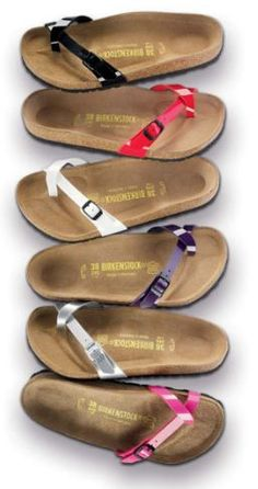 Birkenstocks. Have definitely made a comeback since the 90's. Look cute and don't destroy your feet, knees, and low back like flip flops and wedges will. Have started recommending these to so many of my patients!