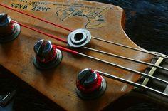 1966 Fender Jazz Bass Bass Cello, Fender Bass Guitar, Fender Guitars, Guitar Parts, Music Guitar, Guitar Amp, Vintage Bass Guitars, Fender Vintage, Jaco Pastorius