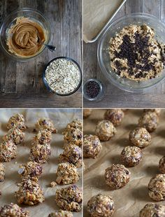 Peanut Butter No Bake Gluten Free Energy Bites, Step by Step