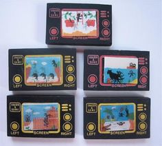 "Handheld game erasers ""Erase & Watch"" (as a reference to the Nintendo ""Game & Watch"")"