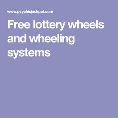 Free lottery wheels and wheeling systems Winning Lottery Numbers, Lotto Numbers, Winning The Lottery, Lottery Winner, Lottery Strategy, Lottery Tips, Lottery Games, Lottery Wheel, Pick 3 Lottery