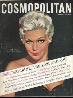 Cosmopolitan magazine, OCTOBER 1957 Model: Kim Novak Artist: Jon Whitcomb