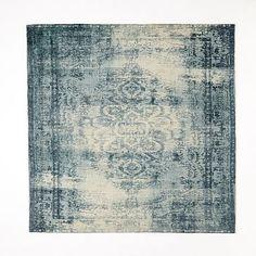 master br Distressed Arabesque Wool Rug - Midnight #westelm