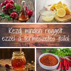 Tanulmányok bizonyítják, hogy ha egy pohár meleg vízbe almaecetet, citromot és cayenne borsot keverünk, az pozitívan hat az egészségünkre... Tasty, Health, Salud, Health Care, Healthy