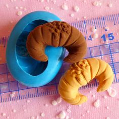 Croissant Mold Pastry Bread Mold 28mm Flexible by MiniatureSweet, $5.45