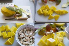 brochetas de langostino y mango paso a paso