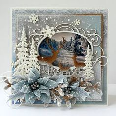 Christmas Cards | Card Making | Stamping | Scrapbooking | Creative Scrapbooker Magazine #christmas #cards #scrapbooking . Christmas Card Crafts, Homemade Christmas Cards, Christmas Cards To Make, Vintage Christmas Cards, Xmas Cards, Christmas Projects, Vintage Cards, Homemade Cards, Shabby Chic Christmas