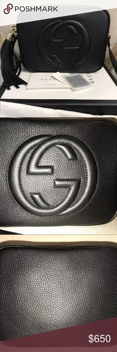 cd5b247fd17 Black Gucci Soho Disco Bag 100% Authentic This product is 100% authentic  and brand