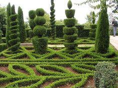 Madeira Botanical Garden topiaries.