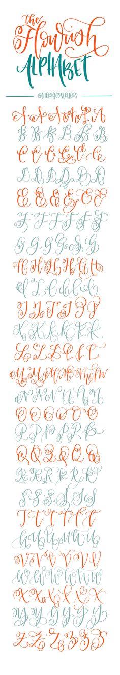 flourished font!!
