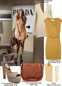 Gossip Girl Fashion: Copy Serena Van Der Woodsen's Yellow Dress Mode Gossip Girl, Estilo Gossip Girl, Gossip Girl Outfits, Gossip Girl Fashion, Casual Attire For Women, Business Casual Attire, Business Formal, Professional Attire, Capsule Wardrobe Work