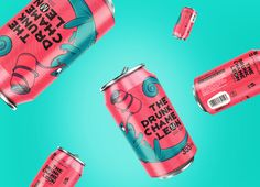 THE DRUNK CHAMELEON - cool beer on Behance