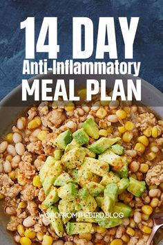 Anti-Inflammatory Meal Plan Recipes fro Breakfast, Lunch, and Dinner-Word From The Bird - The Best Easy Healthy Recipes Detox Meal Plan, Diet Meal Plans, Healthy Diet Plans, Healthy Eating, Detox Meals, Detox Foods, Detox Recipes, Healthy Recipes, Simple Recipes