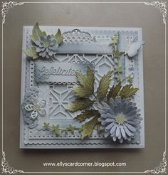 Elly´s Card- Corner Altenew, Gerbera, Vintage Cards, I Card, Birthday Cards, Decorative Boxes, Card Making, Crafty, Corner