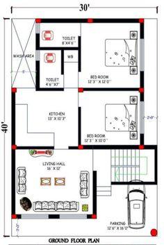 Little House Plans, Unique House Plans, 2bhk House Plan, Indian House Plans, Free House Plans, Small House Floor Plans, Beautiful House Plans, Model House Plan, Home Design Floor Plans