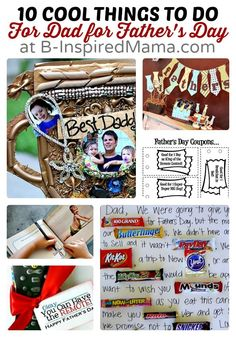 10 Cool Things to Do For Dad for Father's Day at B-Inspired Mama Fathers Day Crafts, Happy Fathers Day, Daddy Gifts, Gifts For Dad, Father's Day Celebration, Daddy Day, Mother And Father, Mothers, Grandparents Day