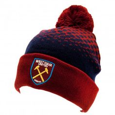 West Ham United F. Ski Hat FD - fade design bobble knitted hat- adults one size fits all- embroidered crest- with a swing tag- official licensed product West Ham United Fc, Fade Designs, Football Accessories, Football Memorabilia, Soccer Gifts, Ski Hats, Knitted Gloves, Skiing, Winter Hats