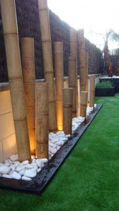 Garden Bar, Garden Oasis, Balcony Garden, Dream Garden, Modern Landscaping, Outdoor Landscaping, Backyard Patio, Bamboo Fountain, Contemporary Fireplace Designs