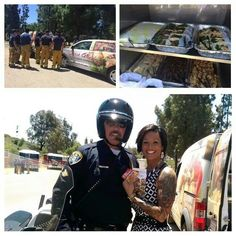 Luna Grill does an awesome job in feeding and refreshing officials during the wildfire days.