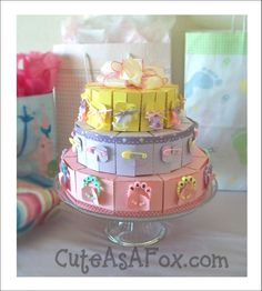 Baby Shower Centerpiece and party favors. Get the free templates and Instructions