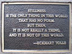 Stillness...