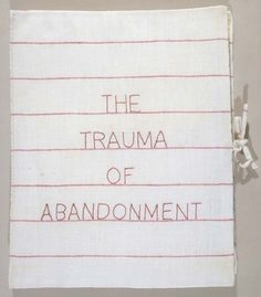 Louise Bourgeois - The Trauma of Abandonment. 2001