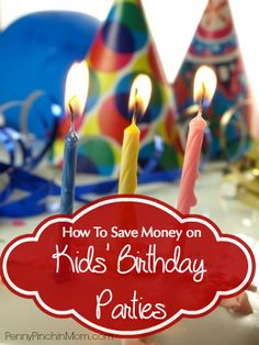 Birthday spending can quickly get out of hand and can impact your budget in a big way, especially if you have more than one birthday to celebrate in one month! Find ways to save money on kids' birthday parties!