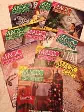 Magic Crochet Magazine - Lot Of 10
